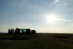 Stonehenge am späten Nachmittag.