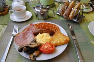 Über das tolle Frühstück in den B&Bs brauchen wir euch nichts mehr erzählen. Dieses bekamen wir bei Chuckles Guesthouse in Derby.