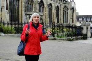 Unser Guide Fay kannte sich in Norwich super aus und zeigte uns so manch verborgene Ecke.