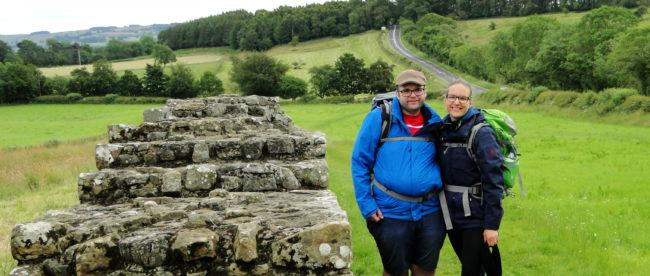Michael und Johanna bei ihrer Wanderung